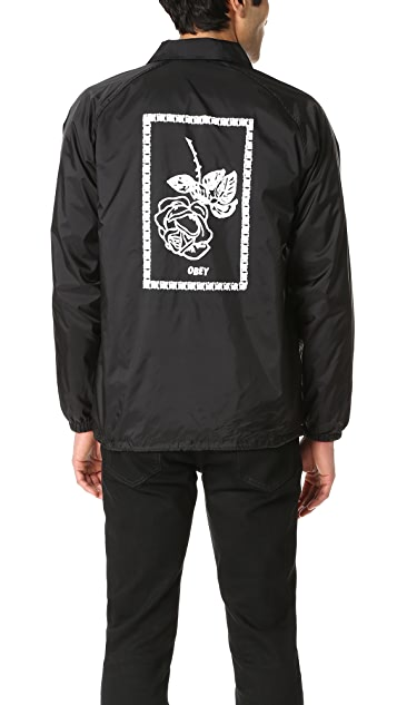 Obey Nobody's Flower Coach Jacket