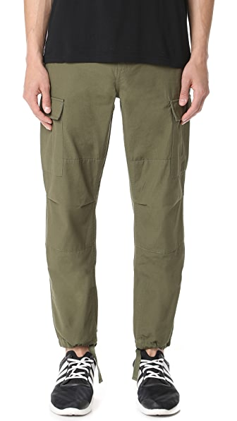 Obey Recon Cargo Pants in Army Green