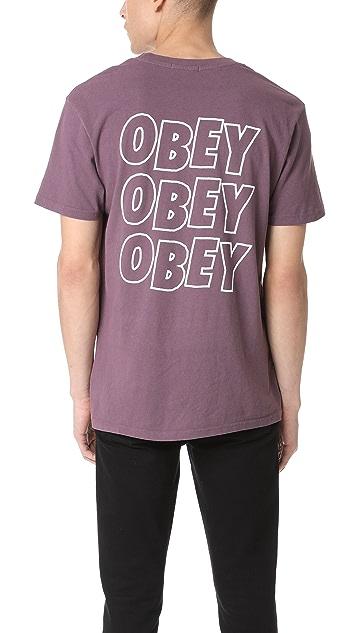 Obey Obey Jumble Tee