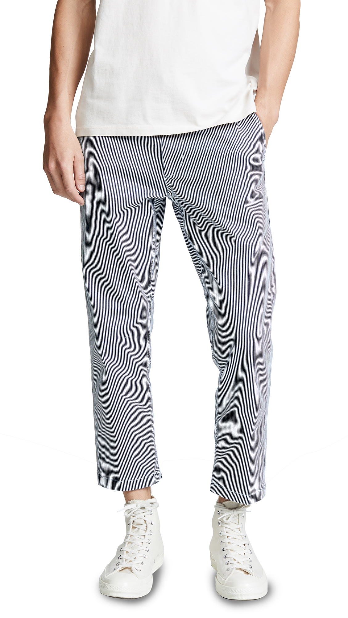 Obey Cottons STRAGGLER FLOODED PANTS