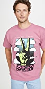Obey Short Sleeve Give Peace A Chance T-Shirt