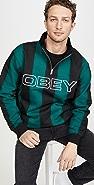 Obey Goal Zip Mock