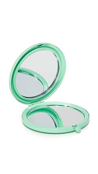 Odeme Compact Mirror In Aqua