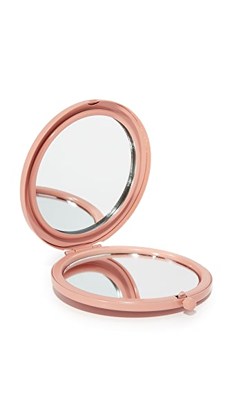 Odeme Compact Mirror In Pink