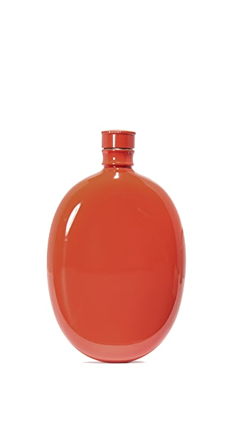 Odeme Oval Flask In Red