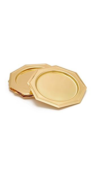Odeme Set of 4 Coasters - Gold