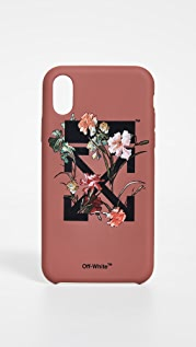 Off-White Чехол Flowers Carryover для iPhone X