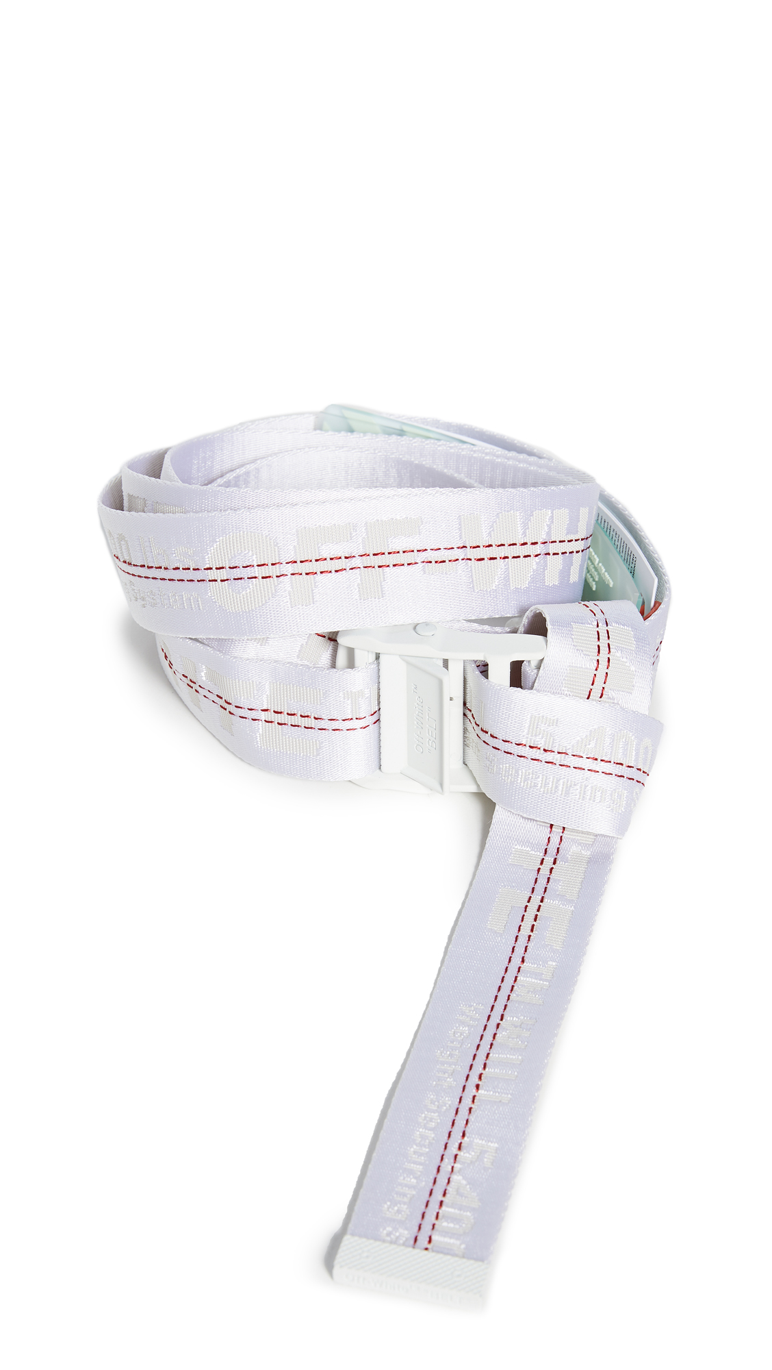 Off-White Off White C/O Virgil Abloh Women's White Classic Industrial Belt Mini