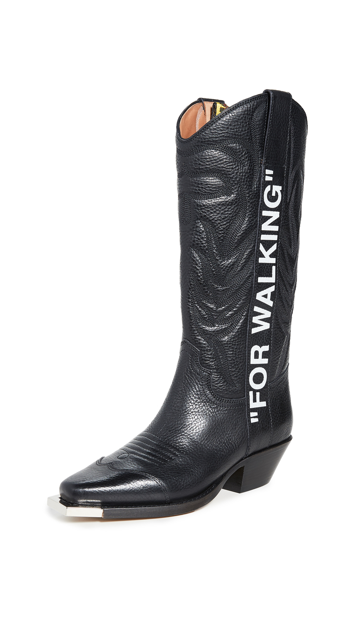 "Off-White For Walking"" Cowboy Boots"" - 50% Off Sale"