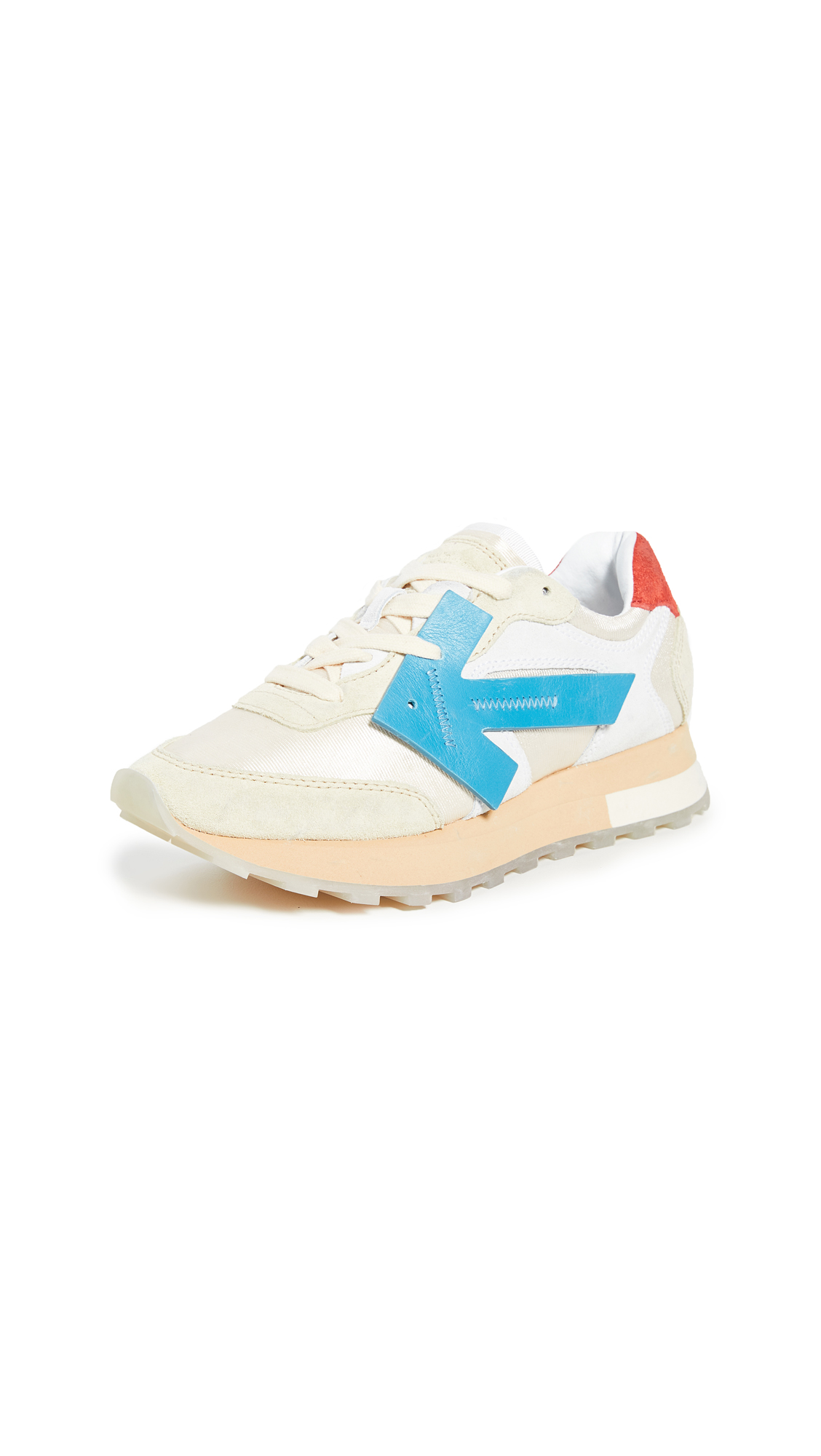 Off-White Hg Runner Low-Top Suede Sneakers In White/Blue
