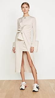 Off-White Wrap Shirtdress