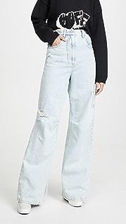 Off-White 超大漂白色男孩风格长裤