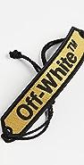 Off-White 米色镂空织花手链