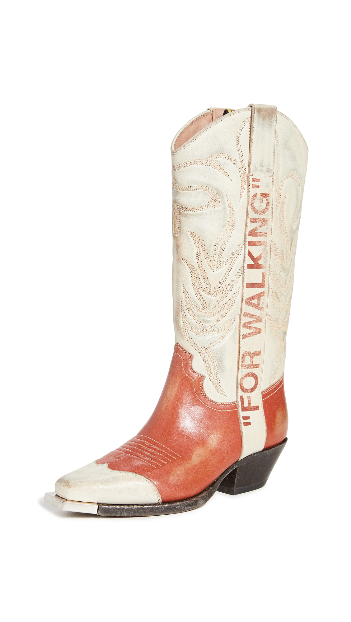 Buy Off-White Vintage Cowboy Boots online, shop Off-White