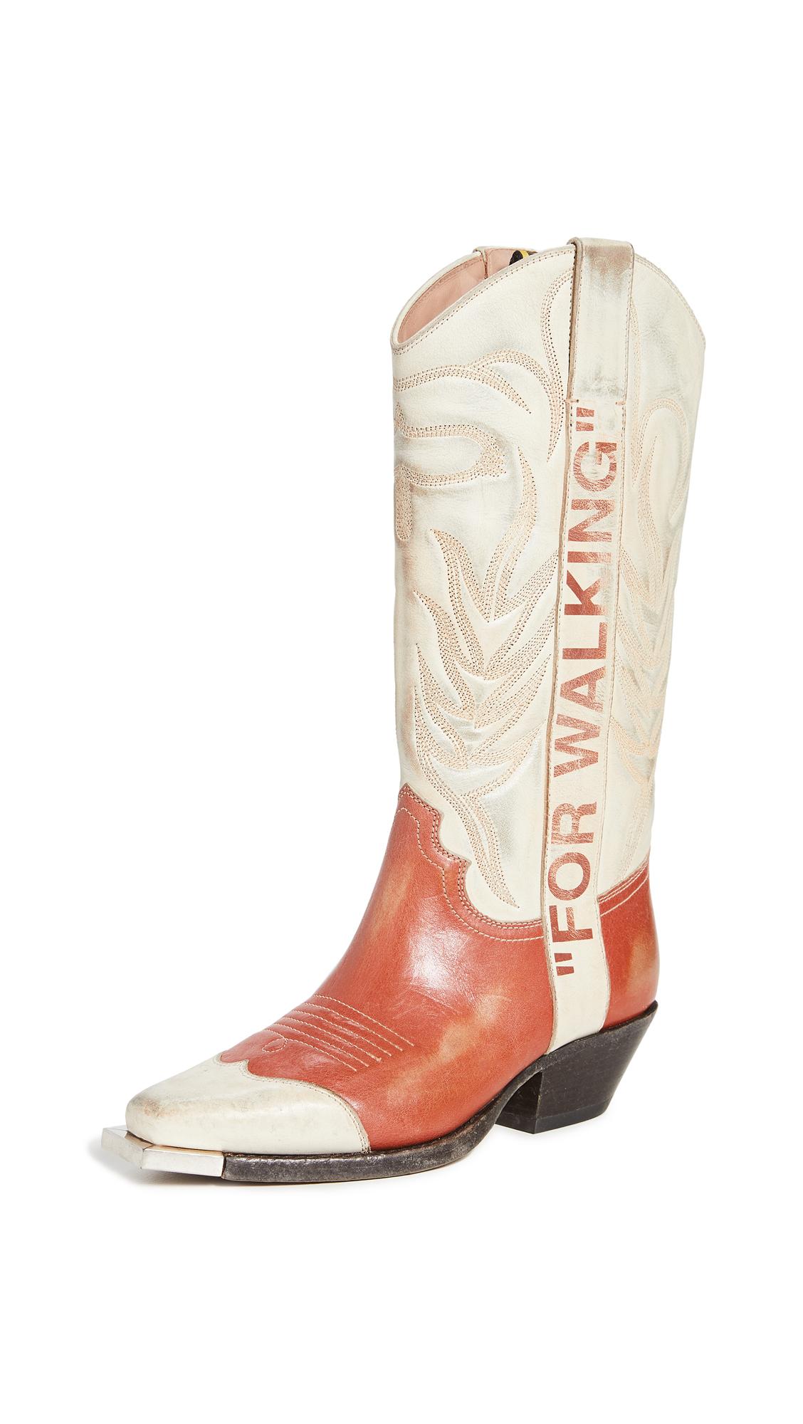 Off-White Vintage Cowboy Boots – 60% Off Sale