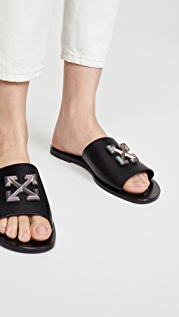 Off-White Arrow Sliders
