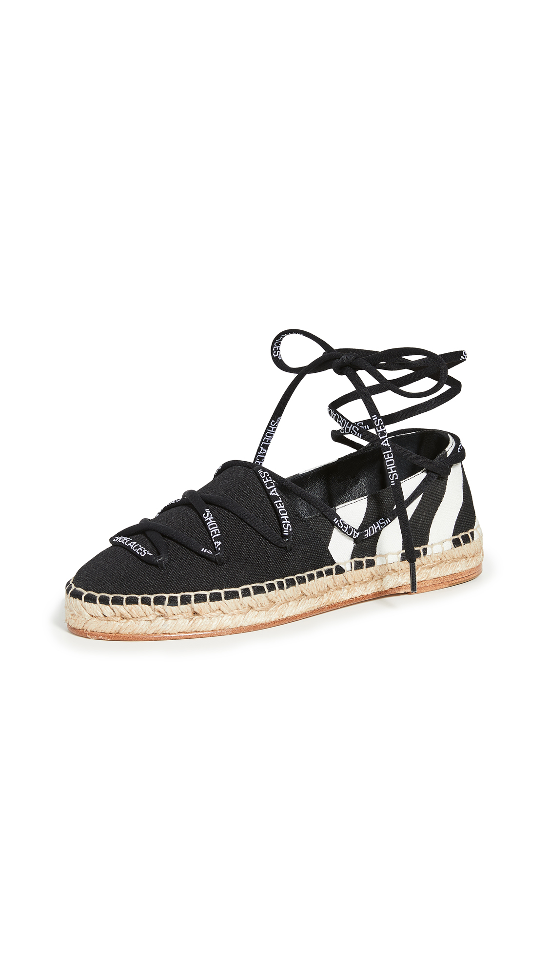 Buy Off-White online - photo of Off-White Diag Canvas Espadrilles