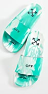 Off-White Tie-Dye Pool Sliders