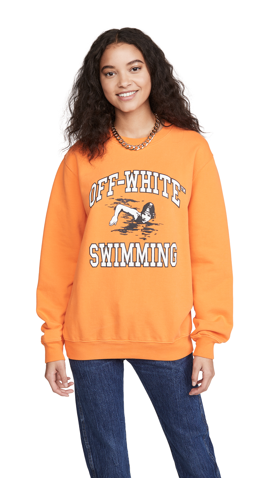 Photo of Off-White Off-White Swimming Crew Neck Sweatshirt - shop Off-White Clothing, Shirts, Tops online