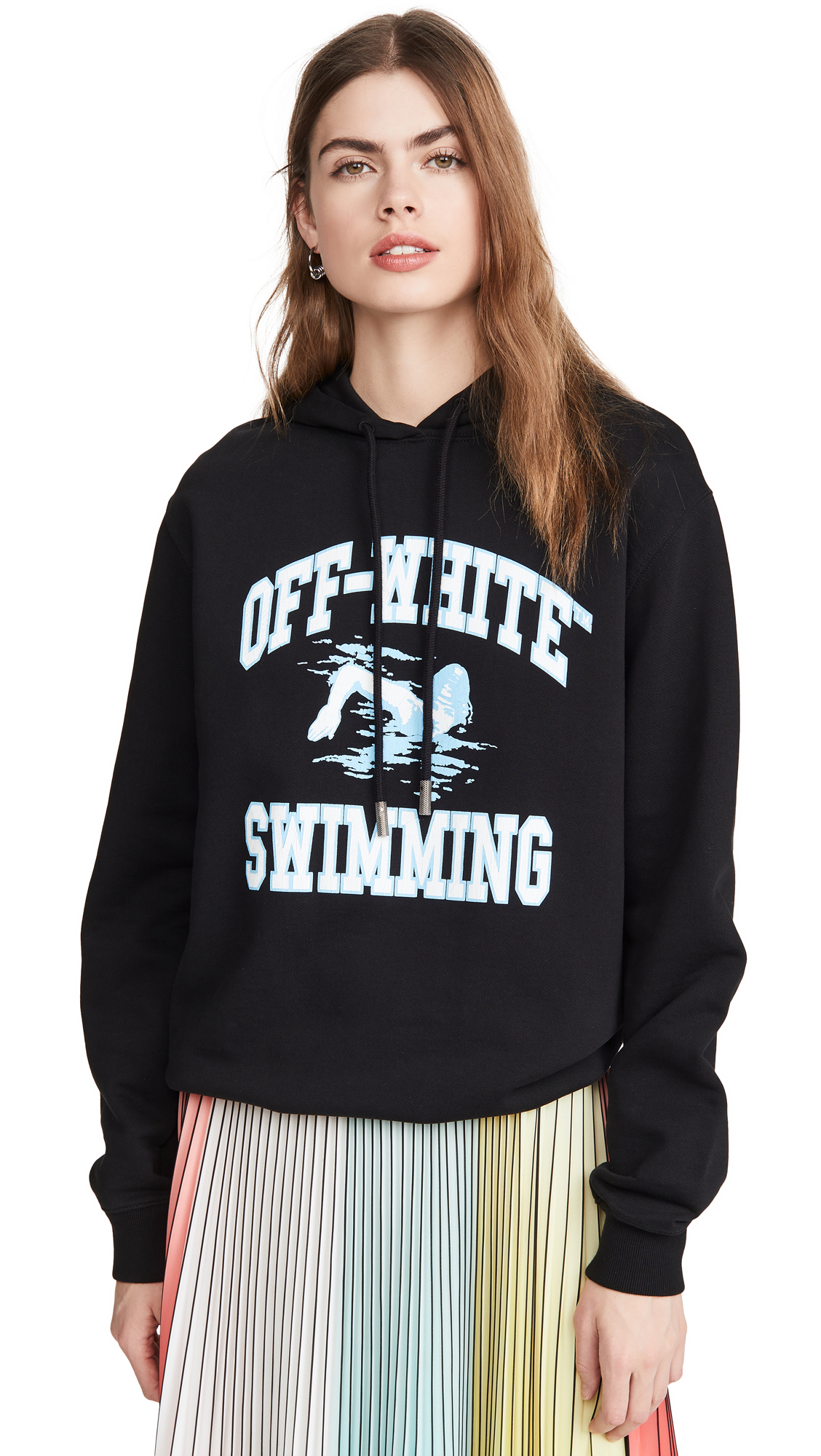 Photo of Off-White Swimming Hoodie - shop Off-White Clothing, Shirts, Tops online
