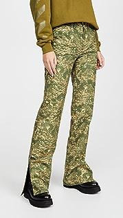 Off-White Камуфляжные брюки в рабочем стиле из ткани рипстоп