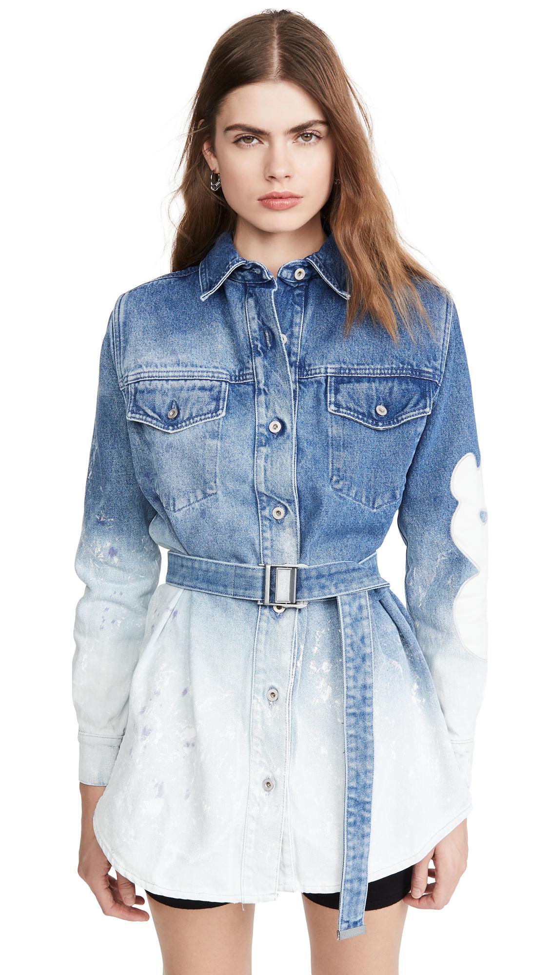 Buy Off-White online - photo of Off-White Shape Dress