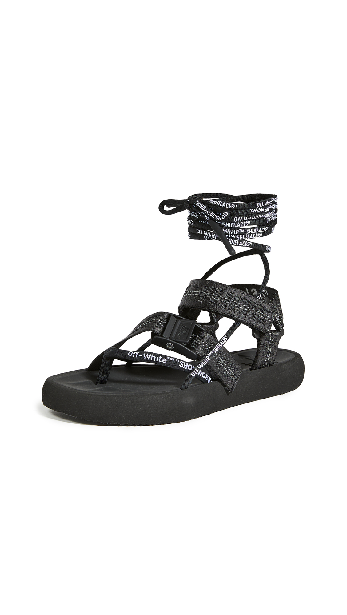 Buy Off-White Multistrap Micro Sandals online, shop Off-White