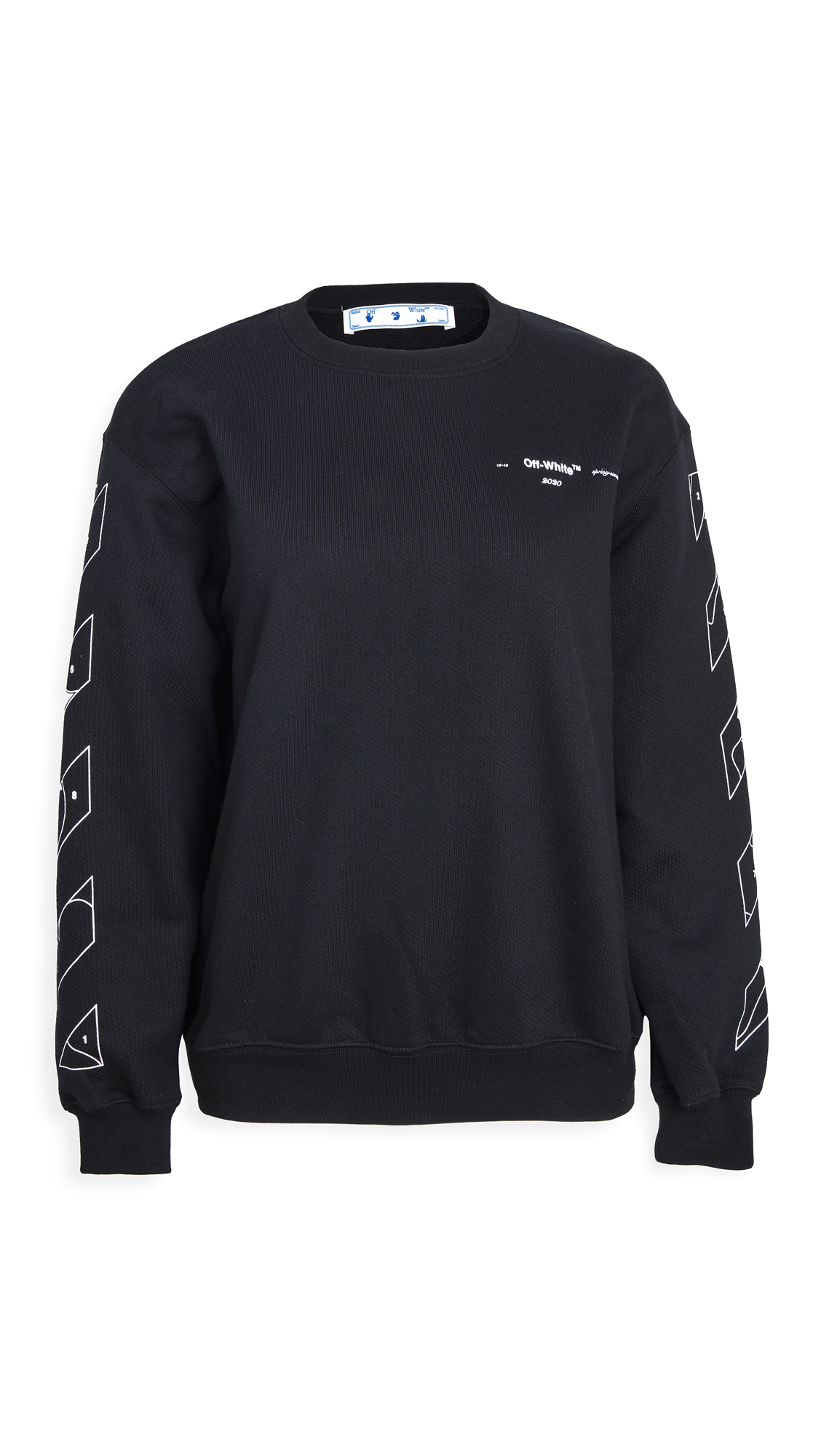 Photo of Off-White Puzzle Arrow Oversize Crew Neck Sweatshirt - shop Off-White Clothing, Shirts, Tops online