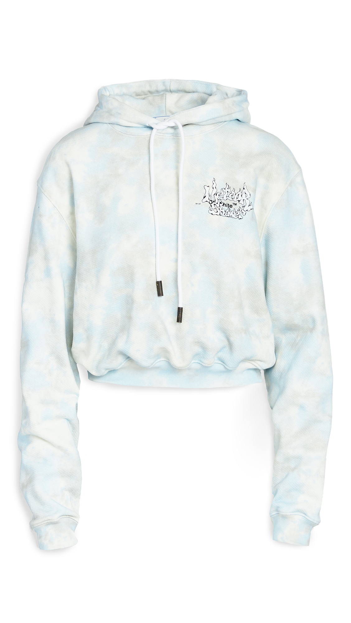 Photo of Off-White Meteor Shower Cropped Hoodie - shop Off-White Clothing, Shirts, Tops online