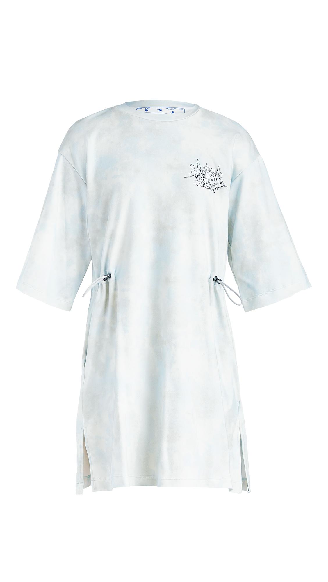 Off-White Meteor Shower Coulisse Dress Light Blue - 30% Off Sale