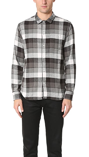 Officine Generale JS Piping Japanese Twill Plaid Shirt