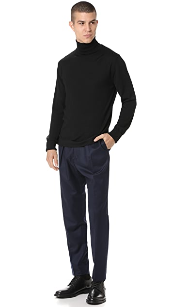 Officine Generale Pleat Wool Pants