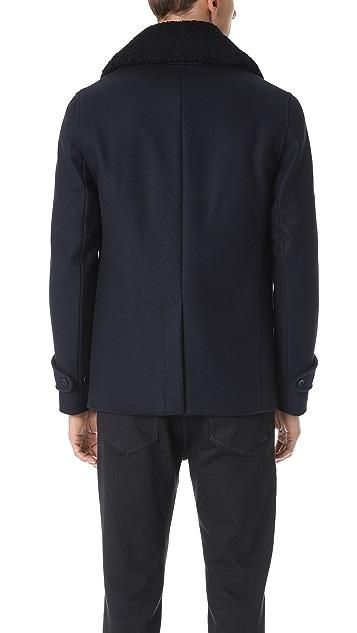 Officine Generale New Melton Wool Peacoat