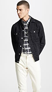 Officine Generale Liam Denim Black Jacket