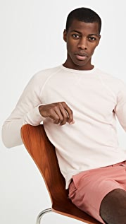 Officine Generale Pigment Dyed Crew Neck Sweatshirt