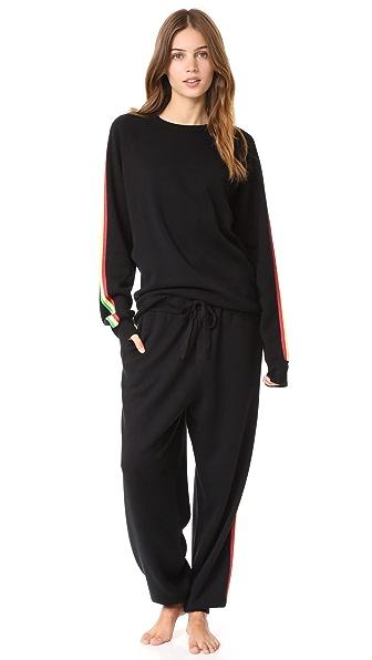 Olivia von Halle Missy Kingston Cashmere Sweatsuit In Black