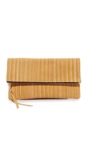 Oliveve Woven Clutch - Marigold