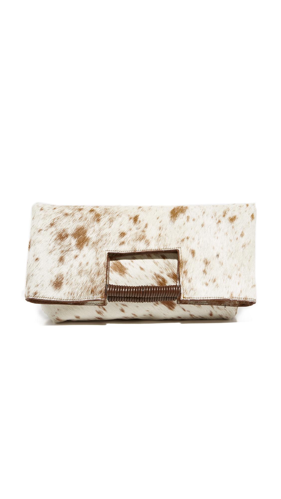 Oliveve Reid Wrapped Handle Bag - Brown Natural