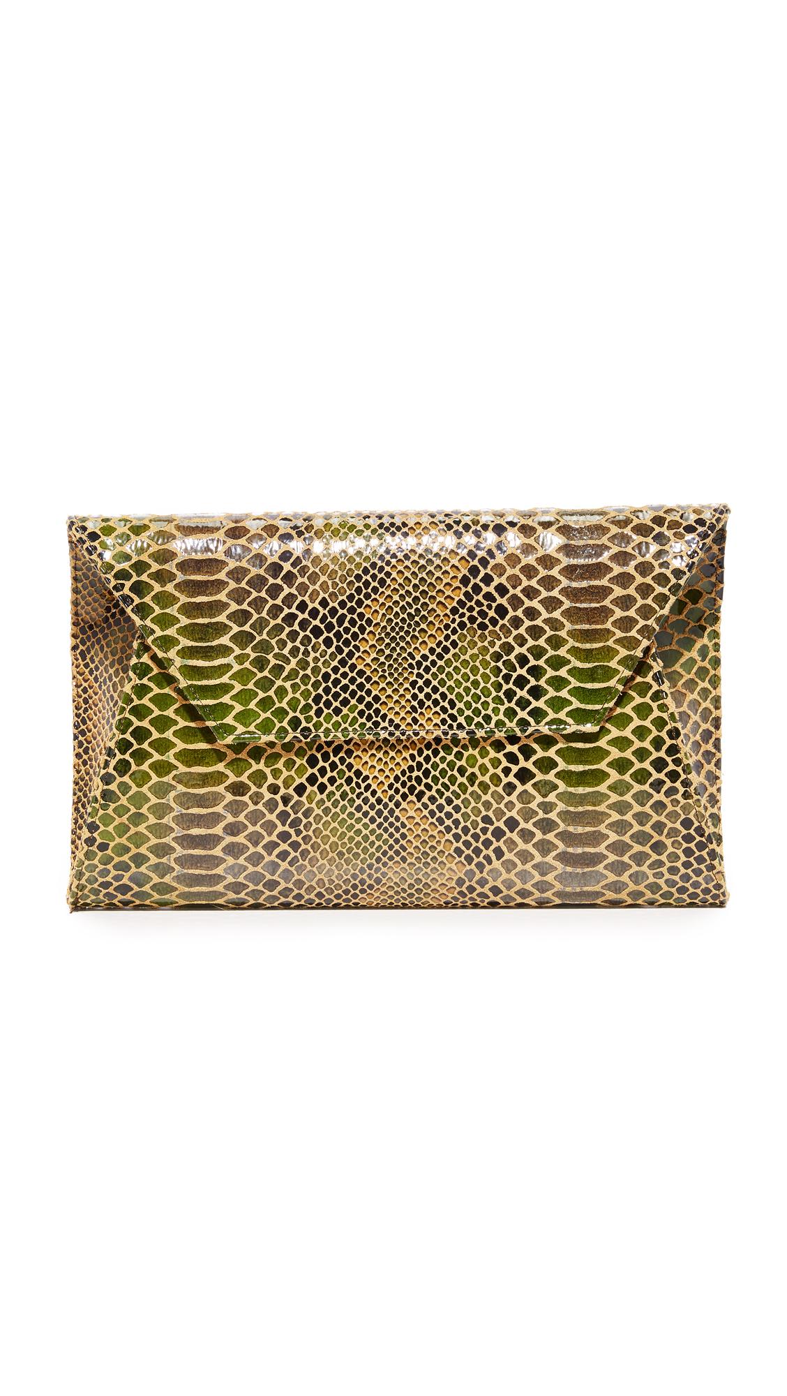Oliveve Cleo Envelope Clutch - Jade