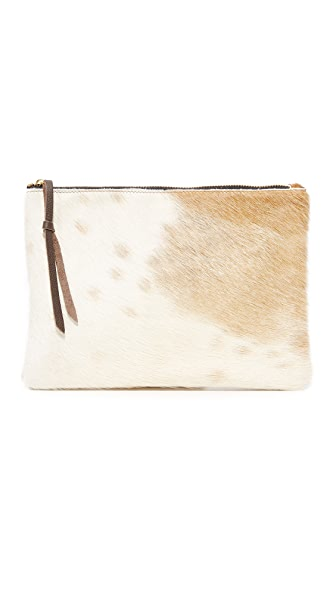 Oliveve Queenie Clutch - Brown Natural