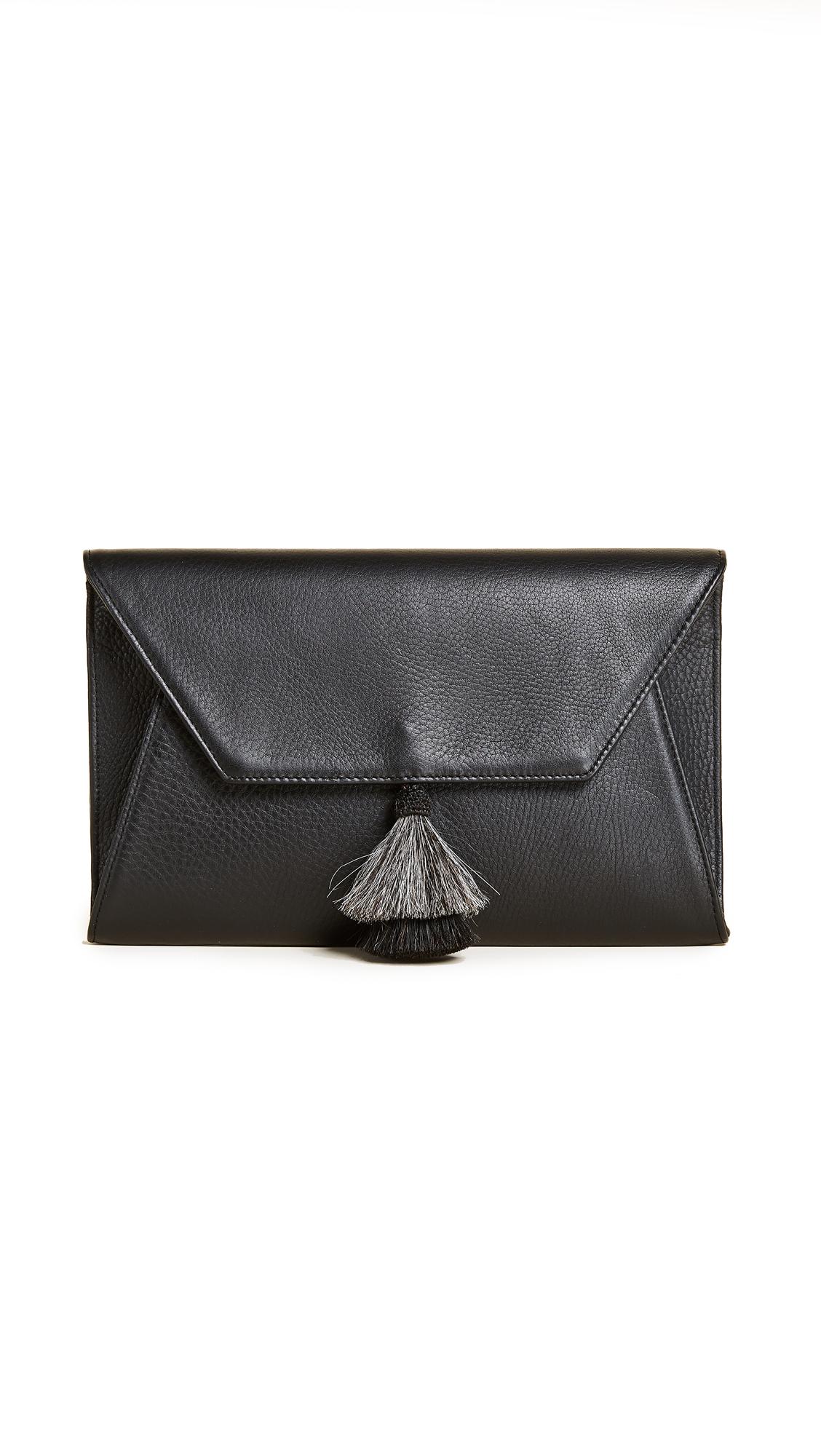 Oliveve Cleo Envelope Clutch With Tassel - Black