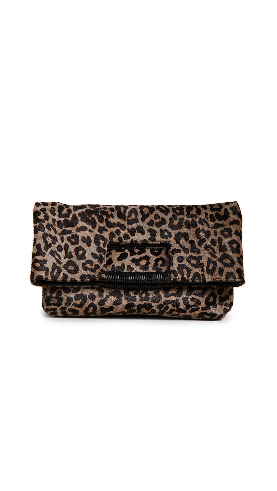 Reid Wrapped Handle Bag, Leopard