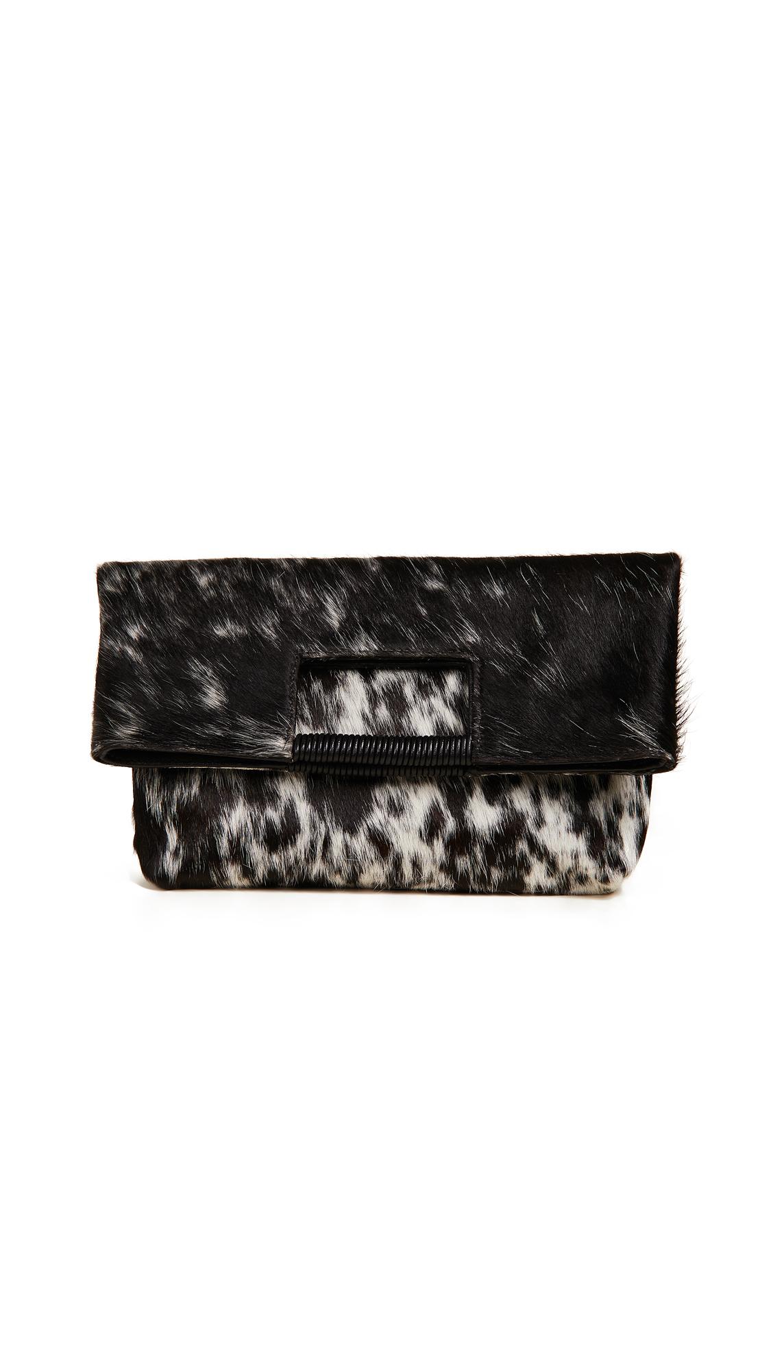 Reid Wrapped Handle Bag, Black Natural