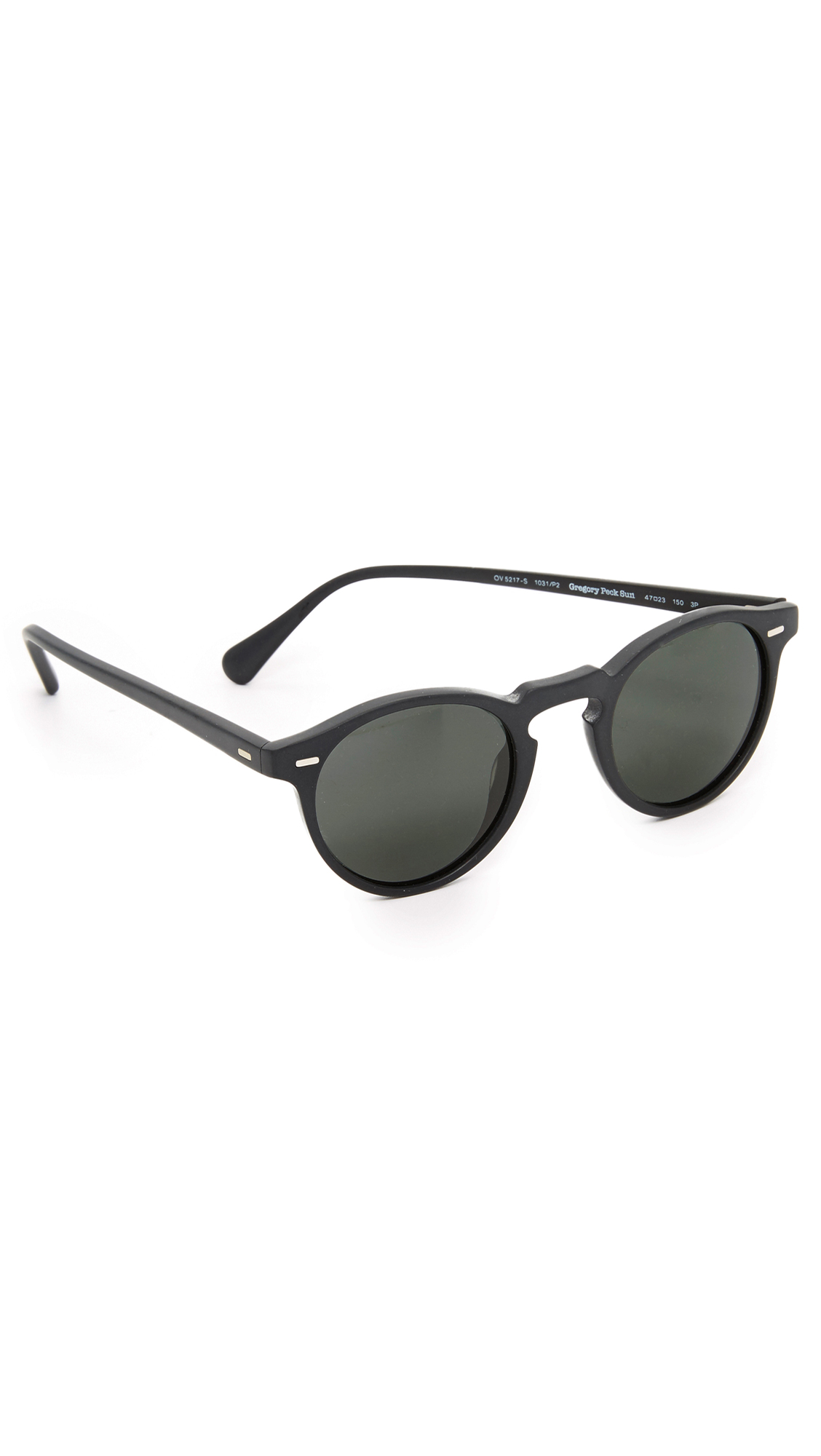 faef4497cba8 OLIVER PEOPLES GREGORY PECK POLARIZED SUNGLASSES