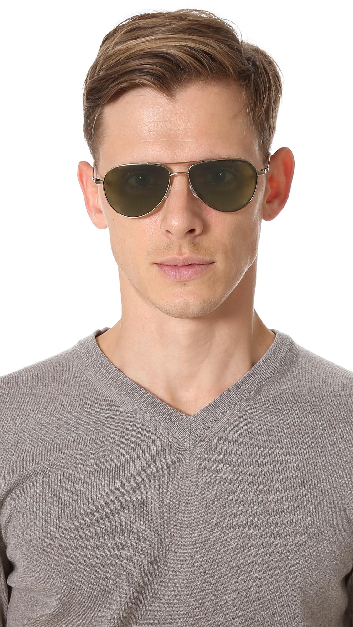 8cdfaea5f95 Oliver Peoples Eyewear Benedict Polarized Sunglasses