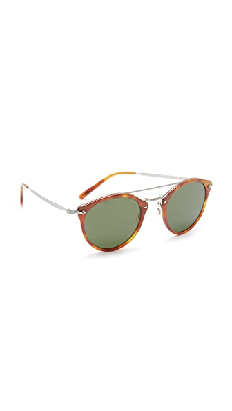 Oliver Peoples Eyewear Remick Sunglasses - Semi Matte Light Brown/Green