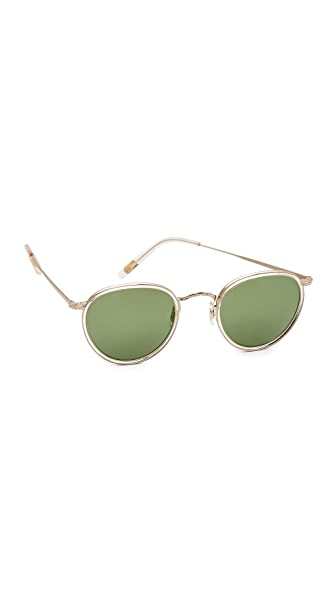 Oliver Peoples Eyewear MP-2 Sunglasses - Buff Brushed Gold/Green