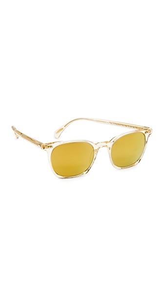 Oliver Peoples Eyewear La Coen Sunglasses - Buff/Amber Goldtone