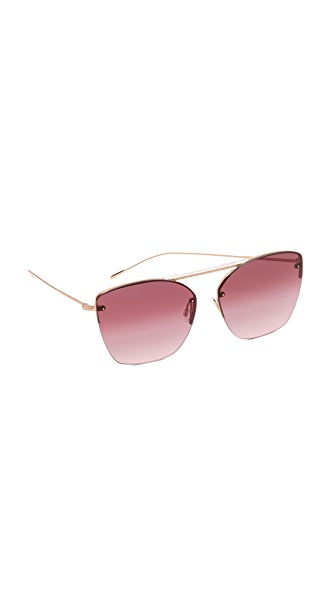 Oliver Peoples Eyewear 30th Anniversary Zaine Sunglasses In Rose Gold/Marsala