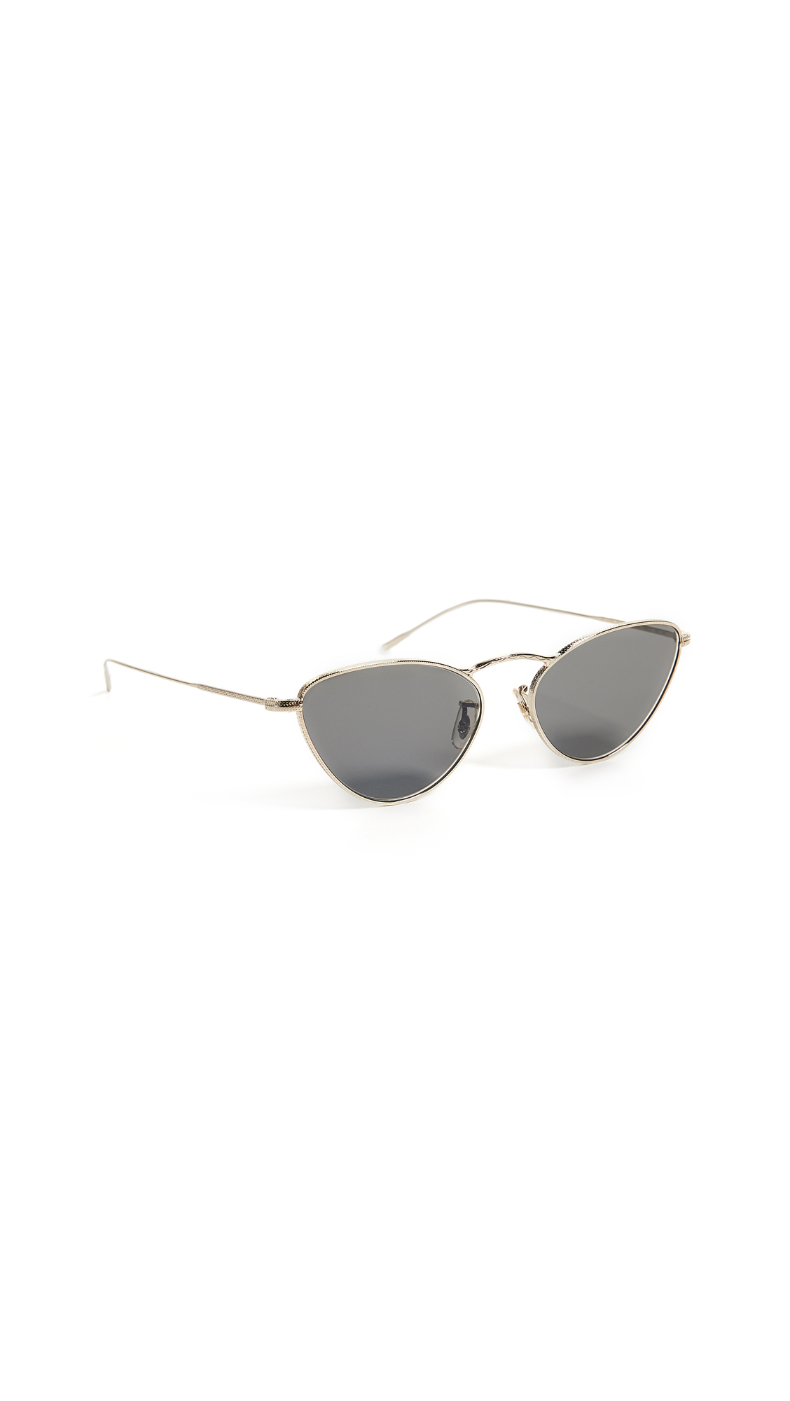 Oliver Peoples Eyewear Lelaina Sunglasses In Gold/Carbon Grey